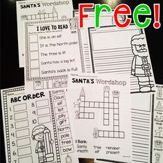 FREE Christmas worksheets that are fun and no prep - save these for December!
