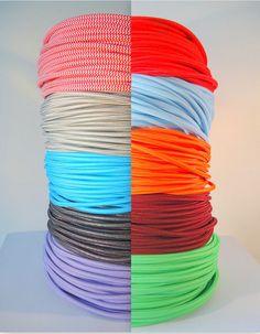 10m textile / chiffon couverts fil bifilaire autour de cordon, Vintage Style cordon de tissu de rayonne pour pendentifs, lampes