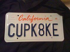 My new license plate! by kristin_a (Meringue Bake Shop), via Flickr
