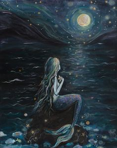 "nauticalnymphs: "" ladytor: "" New piece ""Starry Sea"" ~V~ https://www.etsy.com/ca/listing/251380788/starry-sea?ref=shop_home_active_3 "" ArtbyLadyViktoria """