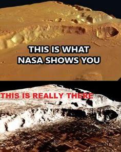 UFOLOGIA - OVNIS ONTEM: NASA - Esconde ¨CIDADES¨ Inteiras em Marte!!