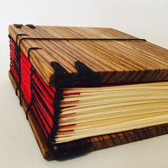 """Let's meet our newest addition to the family! This beauty is a Zebrawood, Coptic stitched, 180 page journal. Finished with an all natural sealant that will help keep that beautiful, rich color and keep the wood from browning over time. Measures 4x4x2""""."""