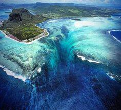 1. Underwater waterfall on the Mauritius Island! #mindblow
