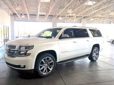 Beautiful perfect 2015 Chevy Suburban LTZ... Some girls dream of luxury sports cars... I will drive a luxurious lifted suburban like a boss!