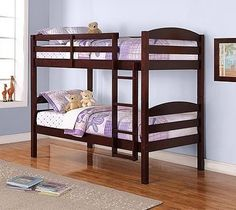 Mainstays Twin Over Twin Wood Bunk Bed, Espresso by Mainstays *** You can get more details by clicking on the image.