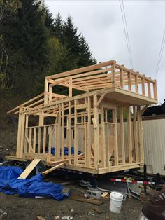 Tiny House, Building A House, Loft, Cabin, Bed, Furniture, Home Decor, Homemade Home Decor, Stream Bed