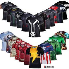 Superhero Marvel Comics Costume Cycling 3D Tee T-Shirt Sport Bicycle Jersey Tops