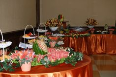Wedding Fruit Tables #simplydelicious Buffet Set Up, Buffet Tables, Fruit Platters, Party Platters, Fruit Tables, Fruit Displays, Bee, Appetizers, Wedding Ideas