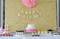 pink+and+gold+birthday+party | camo meets couture: A Very Glittery First Birthday