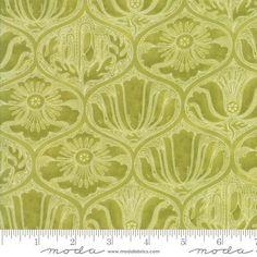 Moda Fabrics Poppy Mae Ogee Leaf  from £3.25 - www.modafabric.co.uk