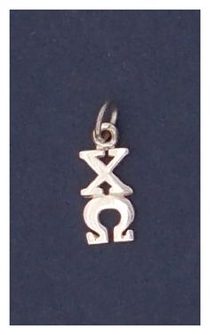 Chi Omega Sterling Silver Lavalier by hyunich on Etsy