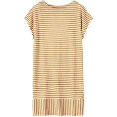 Toast Linen Jersey Beach Dress ($73) ❤ liked on Polyvore featuring dresses, tops, striped jersey dress, striped jersey, linen jersey, stripe dresses and striped dress