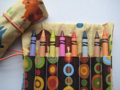 Crayon Roll Puppy Dogs Includes 8 Crayons by adorableblessings