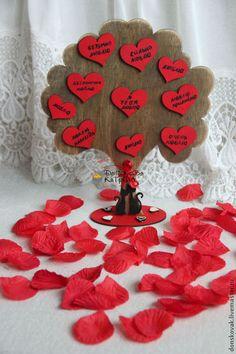 Подарки для влюбленных ручной работы. Ярмарка Мастеров - ручная работа. Купить Дерево любви. Handmade. Ярко-красный, сердечко, котики