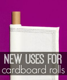 Six on Saturday: New Uses for Cardboard Rolls - Inspiration For Moms I hadnt thought of all of these ideas before! Cardboard Rolls, Cardboard Crafts, Craft Tutorials, Diy Projects, Craft Ideas, Toilet Paper Roll Crafts, New Uses, Funky Junk, Organization Hacks