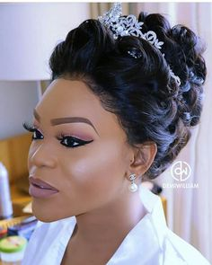 Charming 50 Quinceanera Hairstyles for Black Young Women Pin Curl Updo for Black quinceanera Pin Curl Updo, Pin Curls, Black Brides Hairstyles, Bride Hairstyles, Updo Hairstyle, Hairdo Wedding, Bridal Updo, Bridal Hair And Makeup, Hair Makeup