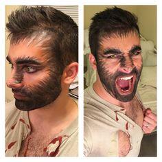 Werewolf makeup Werewolf makeup Source by Wolf Costume Men, Werewolf Costume Diy, Couple Halloween Costumes, Diy Halloween Costumes, Costume Diy Men, Big Bad Wolf Costume, Halloween Men, Halloween Inspo, Halloween Looks