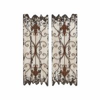 Old World Iron Grates Wall Grilles Set of 2