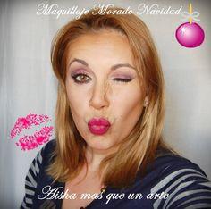 Maquillaje Navidad con Morado