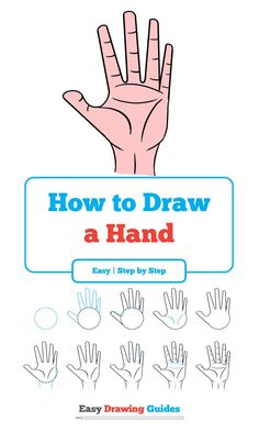 How to Draw a Hand – Really Easy Drawing Tutorial Learn How to Draw Hand : Easy Step-by-Step Drawing Tutorial for Kids and Beginners. See the full tutorial at easydrawingguides… Drawing Videos For Kids, Drawing Tutorials For Beginners, Drawing Lessons, Drawing Techniques, Drawing Tips, Art Tutorials, Drawing Ideas, Learn Drawing, Drawing Drawing