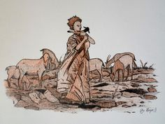 LEMBRANÇAS (bico de pena, lápis de cor aquarelável s/ papel C à grain 224g/cm², tamanho: 21cmX28cm)