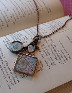 Custom GirlFriend Gift Map Pendants in by ChellasCollection