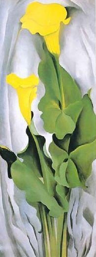 Georgia O'Keeffe. Yellow Calla Lily http://www.saleoilpaintings.com/paintings/georgia-o-keeffe/georgia-o-keeffe-yellow-calla-lily-85902.html
