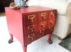 Card Catalog Side Table-I must source this!