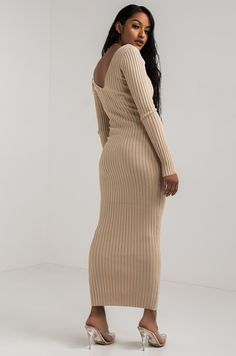 98db132ac21 AKIRA Sexy Ribbed Knit Bodycon Dress with Long Sleeves in Black