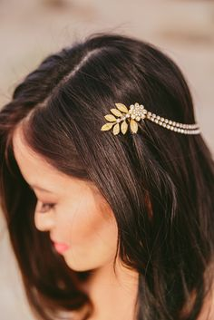 Gold-Leaf Headband Accessory