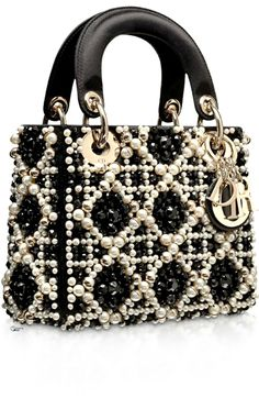 Dior Black Embroidered with Pearls
