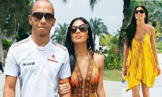 Nicole Scherzinger is a Pocahontas princess as she slips into spring wardrobe to support Lewis at Malaysian Grand Prix