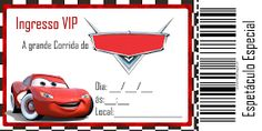 Convite Dos Carros Para Editar E Imprimir Cars Cars Birthday