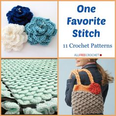 One Favorite Stitch: 11 Crochet Patterns - Using the crocodile stitch you can work up multiple crochet patterns for yourself or a friend. ✿⊱╮Teresa Restegui http://www.pinterest.com/teretegui/✿⊱╮