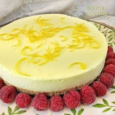 Receta de pastel de galleta y limón - Divine Kitchen - tarta chocolate y flan - Pureed Food Recipes, Lemon Recipes, Sweet Recipes, Cake Recipes, Sweet Pie, Sweet Tarts, Comidas Light, Köstliche Desserts, Food Cakes
