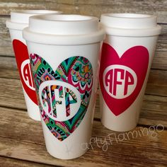 NEW!  We've added Monogram Heart tumblers to our shop selection.  These make the perfect gift for the Valentine you have on your list! ❤️