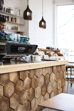 Clapham staycation | Story Coffee interior | mini break | #scandinavian #decor #wood #panel #bar #coffee #interior #design