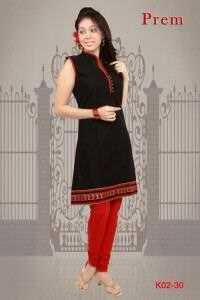 Black beauty designs kurti.
