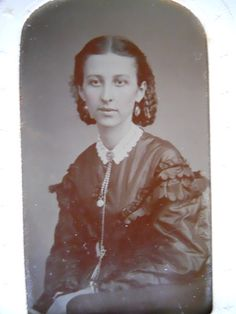 Beautiful Lady Fashionable Dress Antique Civil War Era Tintype Photo Paper Frame | eBay