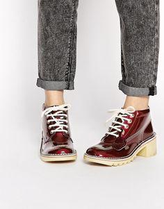 Image 1 - Kickers - Kopey - Bottines mi-hautes en cuir à talons et lacets