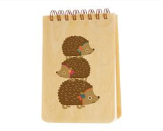 how cute:)  Birch Wood Jotter Notepad - Hazel Hedgehog. $8.00, via Etsy.