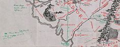J.R.R. Tolkien's Annotated Map | The Portrait Ezine