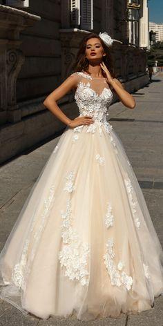 Victoria Soprano 2018 Wedding Dresses ❤️ a line ivory lace illusion sweetheart neckline with caps sleeves victoria soprano 2018 wedding dresses style selena ❤️ See more: http://www.weddingforward.com/victoria-soprano-2018-wedding-dresses/ #weddingforward #wedding #bride #weddingdress2018 #bridagown