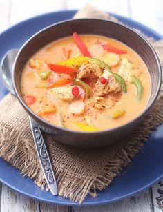 img_0010 Pak Choi, Cheeseburger Chowder, Thai Red Curry, Chili, Spicy, Soup, Ethnic Recipes, Chili Powder, Chilis