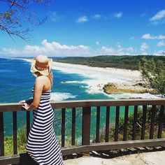 Admiring the view from North Stradbroke Island by