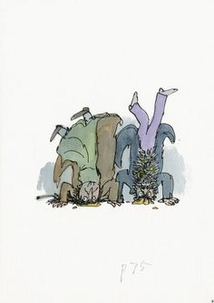 A Quentin Blake Art Show Is Bringing Your Favorite Children's Books Back To Life