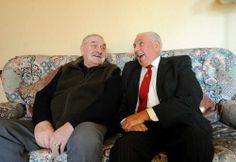 Dennis Turner (Lord Bilston) (r) with his brother Bert (l) who sadly passed away aged 71 on 25 February 2014