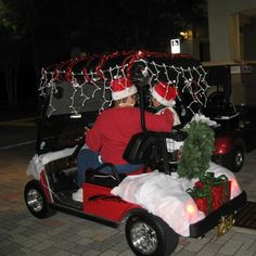 decorate a golf cart for christmas - Golf Cart Christmas Decorations