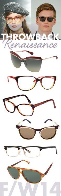 486db1b4cf Throwback Renaissance - F W 2014 Sunglasses and Eyeglasses Trends