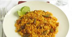 لوبیا پلو Loobia polow is a delicious one-dish meal for the whole family. A tasty combination of rice, diced lamb/beef and cut green...